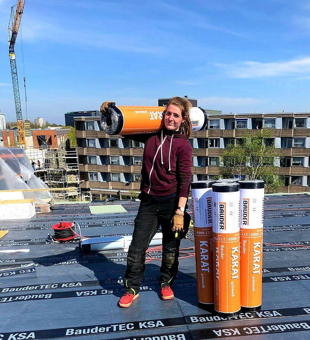 Frauen im Handwerk: Dachdeckerin Paula Eberhard
